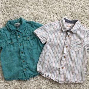 Toddler boy button down shirt bundle